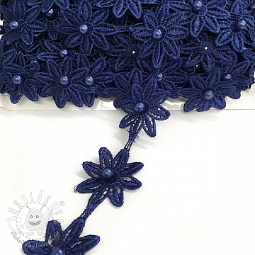 Čipka Bloom dark blue