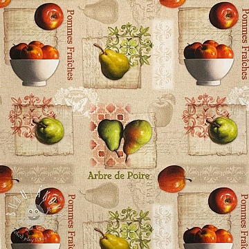 Dekoračná látka Apples and pears digital print