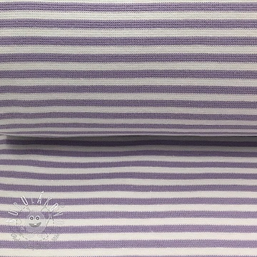 Patent hladký Stripe light purple white