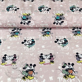Bavlnená látka Mickey and Minnie Forever digital print