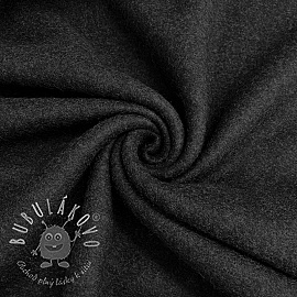 Fleece bavlna anthracite melange