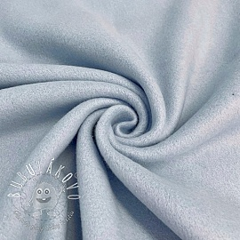 Fleece bavlna light blue