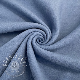 Fleece bavlna old blue