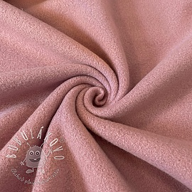 Fleece bavlna old pink
