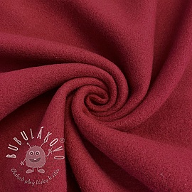 Fleece bavlna red