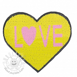 Flitre obojstranné Heart love yellow