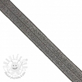 Lemovacia guma glitter 20 mm anthracite