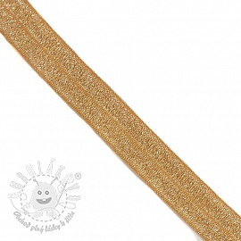 Lemovacia guma glitter 20 mm ochre