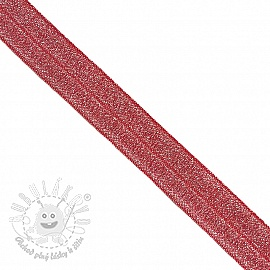 Lemovacia guma glitter 20 mm red