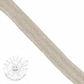 Lemovacia guma glitter 20 mm sand