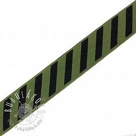 Lemovacia guma STRIPE 20 mm army
