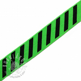 Lemovacia guma STRIPE 20 mm green