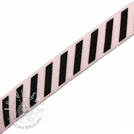 Lemovacia guma STRIPE 20 mm light pink