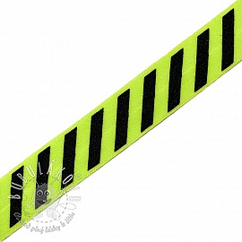 Lemovacia guma STRIPE 20 mm lime