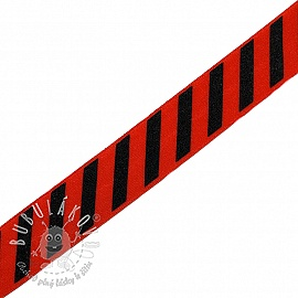 Lemovacia guma STRIPE 20 mm red