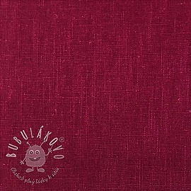 Linen enzyme washed cerise