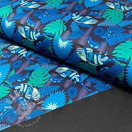 Softshell SPORT Tropic blue digital print