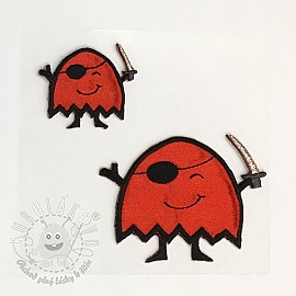 Sticker BASIC Monster Pirat red