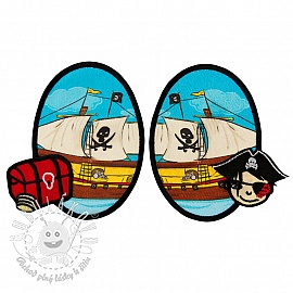 Sticker BASIC Pirat Boat 2 ks PATCH