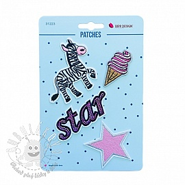 Sticker BIPP Zebra Star