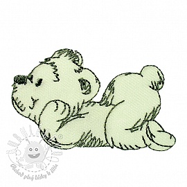 Sticker MINI Teddy white