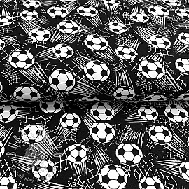 Úplet B and W Soccer