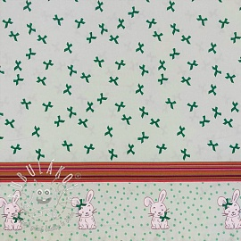 Úplet Bow bunny border mint