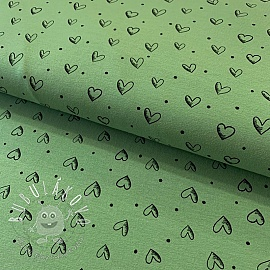Úplet Ink hearts green