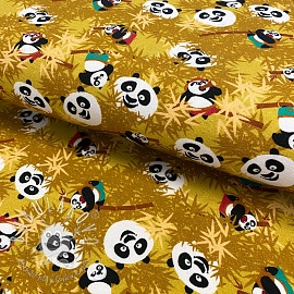 Úplet KUNG FU PANDA Hide and seek yellow digital print