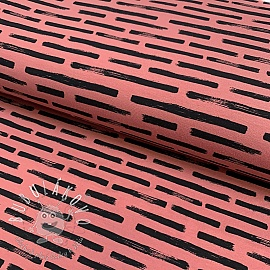 Úplet Marker stripes old rose