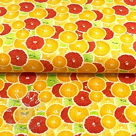 Úplet Oranges digital print