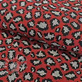 Úplet Panther pattern red