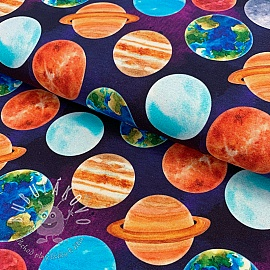 Úplet Planets around us digital print