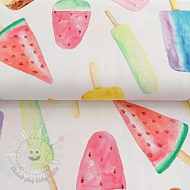 Úplet Watercolor ice lolly digital print