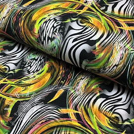 Úplet Zebra bubble yellow digital print