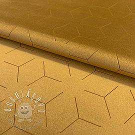 Velúr DELUXE laser print golden yellow