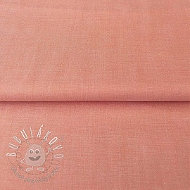 Yarn dyed poplin cotton coral