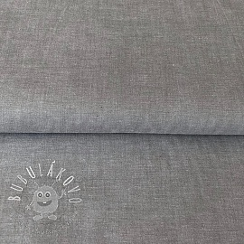 Yarn dyed poplin cotton grey