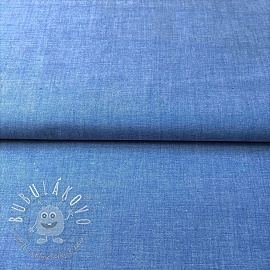 Yarn dyed poplin cotton sky