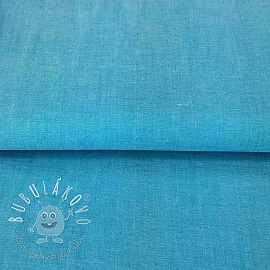 Yarn dyed poplin cotton turquoise